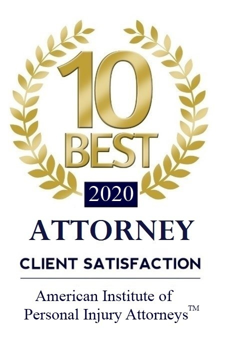 10 Best Attorney 2020 for Client Satisfaction Award by American Institute of Personal Injury Attorneys